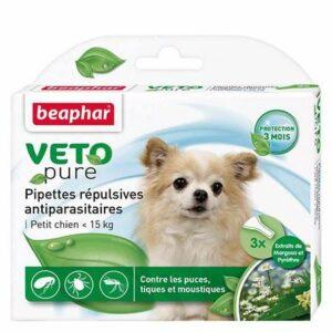 VETOPURE-Pipettes répulsives antiparasitaires- Petits Chien