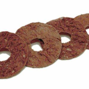 Sachet de recharges de friandises circulaires pour les jouets en taille S comme le Jewel Pop et/ou le Forever Bone. Sachet de 52 grammes, contenant 16 anneaux à la peau brute naturelle Composition des friandises : peau crue, sorbitol, acide ascorbique, supplément de vitamine E Additifs : sorbate de potasium (conservateur) Informations nutritionnelles : protéines brutes 60%, fibres crues 0,5%, huiles et matières grasses brutes 5%, cendres brutes 6%, humidité 12%