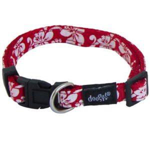 Collier pour petit chien en nylon rouge avec un imprimé floral qui nous rappelle la Polynésie. Avec ses couleurs vives et ses fleurs, le collier pour petit chien Tahiti Doogy est l'accessoire indispensable pour la saison estivale. Possibilité d'ensemble grâce à la laisse et au harnais assortis. Caractéristiques et avantage du collier pour chien Tahiti Doogy : Collier pour chien en nylon résistant Boucle et fermoir résistant pour plus de sécurité Fermeture et installation facile grâce à une boucle clips. Taille : T1 : 25 à 40 cm x 10 mm