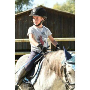 T-shirt en jersey de coton et élasthanne pour un confort optimum. Dessin tête de cheval avec un bandana et accessoires du shérif. Couleur : gris Composition : 95% coton, 5% élasthanne piqué. Lavable en machine à 30°C.