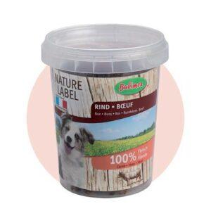 Les morceaux de bœuf Bubimex sont issus de viande de bœuf nature label et issue d'une fabrication française. Ces friandises sont saines et très digestes pour votre chien grâce à une viande 100% fraîche. Avec seulement une seule source de protéines, elles ne surchargent donc pas l'organisme du chien. Seau de 150 g Composition : 100% viande de bœuf. Peu caloriques et très appétentes, elles conviennent parfaitement à tous les chiens. Garantie sans arômes artificiels ni appétant chimique. Conservation optimisée grâce au seau fraîcheur.